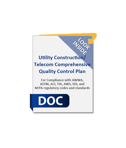 981_Utility_Construction_Telecom_Comprehensive_Quality_Control_Plan_Product_Image